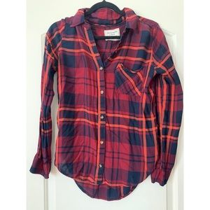Red and Blue Plaid Flannel